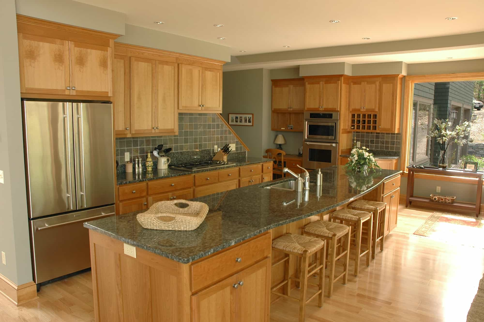 Custom Wood Cabinets in a Kitchen